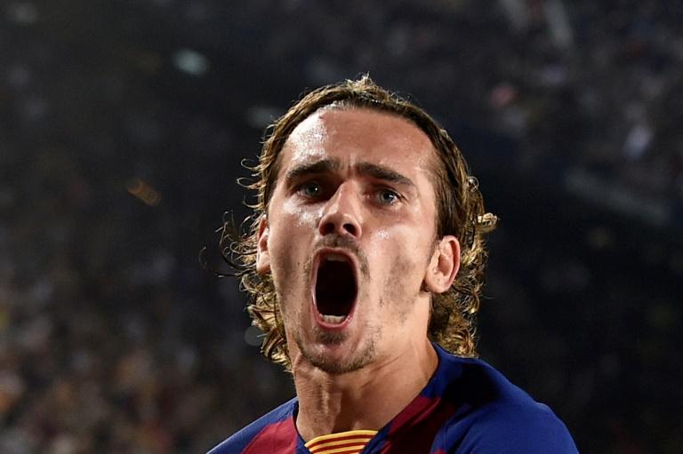 L'attaquant du FC Barcelone Antoine Griezmann auteur d'un doublé lors de la victoire à domicile 5-2 sur le Real Betis le 25 août 2019