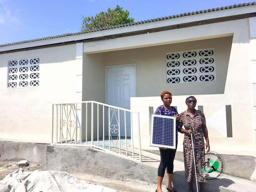 Une des familles Bénéficiaires du programme de logement du BSEIPH.