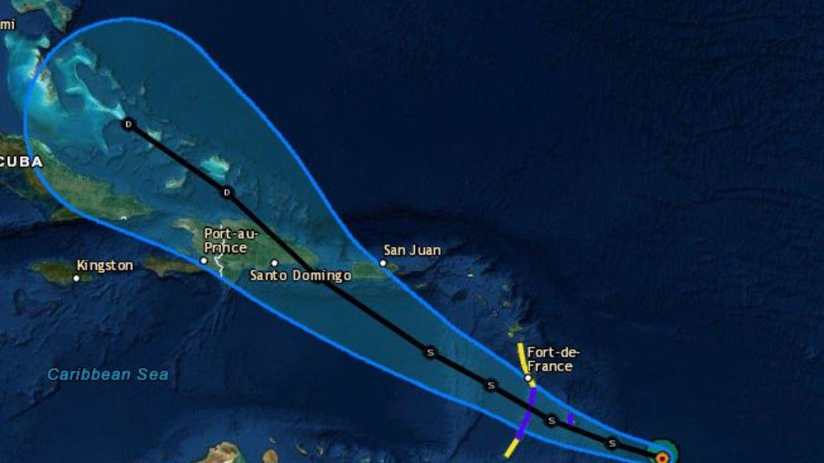 La tempête Dorian sera proche d'Haiti d'ici mercredi, selon les prévisions de l'Unité Hydro Météorologique et du Centre national américain des ouragans./Photo: CNO