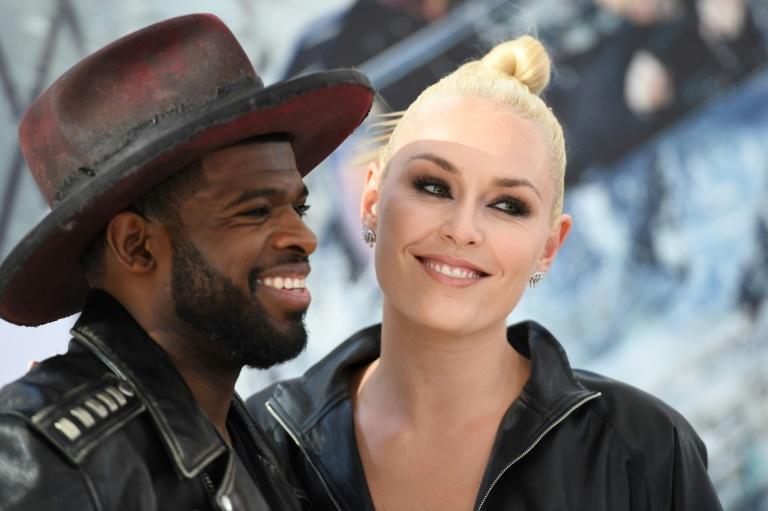 Le joueur de hockey canadien P.K. Subban et la skieuse américaine Lindsey Vonn, ici le 13 juillet 2019 lors de l'avant première du film Fast and Furious à Hollywood ont annoncé leurs fiançailles.