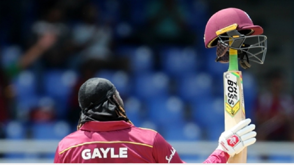 Chris Gayle turned on the style.