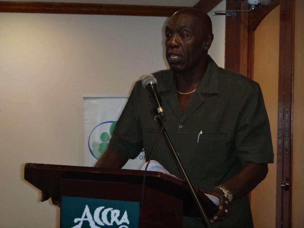 General Secretary of The Congress of Trade Unions and Staff Associations of Barbados (CTUSAB), Dennis de Peiza.
