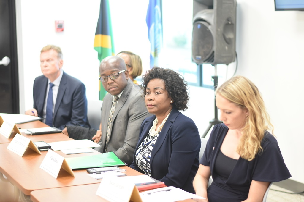 The grant, which will be managed by the Business Process Industry Association of Jamaica (BPIAJ), seeks to help local players in the BPO to digitize their operations and embrace growing trends in the Global Services Sector (GSS) to grow up the value chain. (Photo: Marlon Reid)