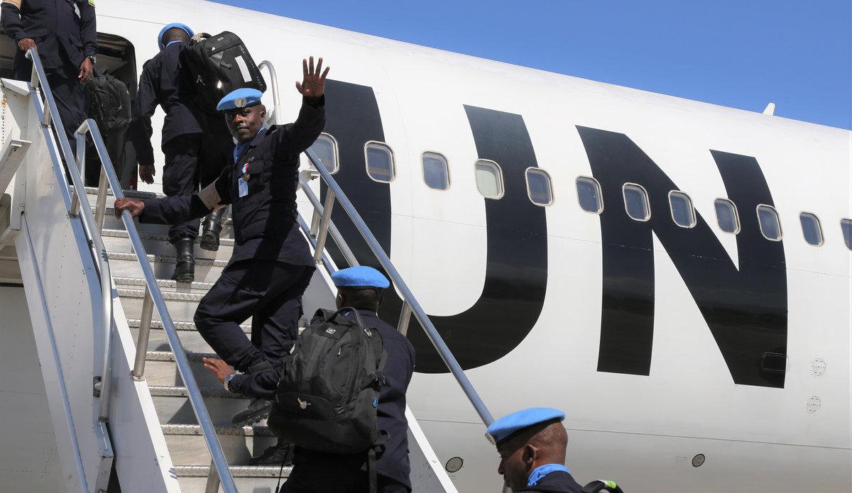 126 officiers du Rwanda ont quitté Haiti le samedi 3 août dernier dans le cadre du retrait progressif des contingents de la mission onusienne./Photo: UNPOL-Audrey Anne Bilodeau.