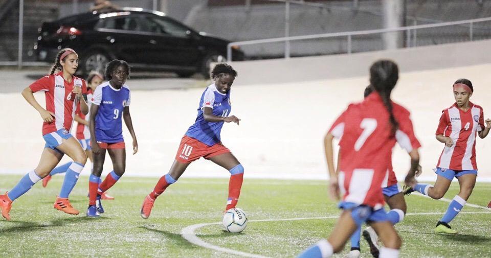 4 victoires en quatre matchs pour Haiti. Photo : Foot Fem Ht