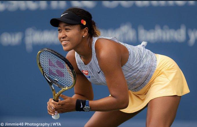 Naomi Osaka à Cincinnati Open. Photo : Compte Twitter de Naomi Osaka