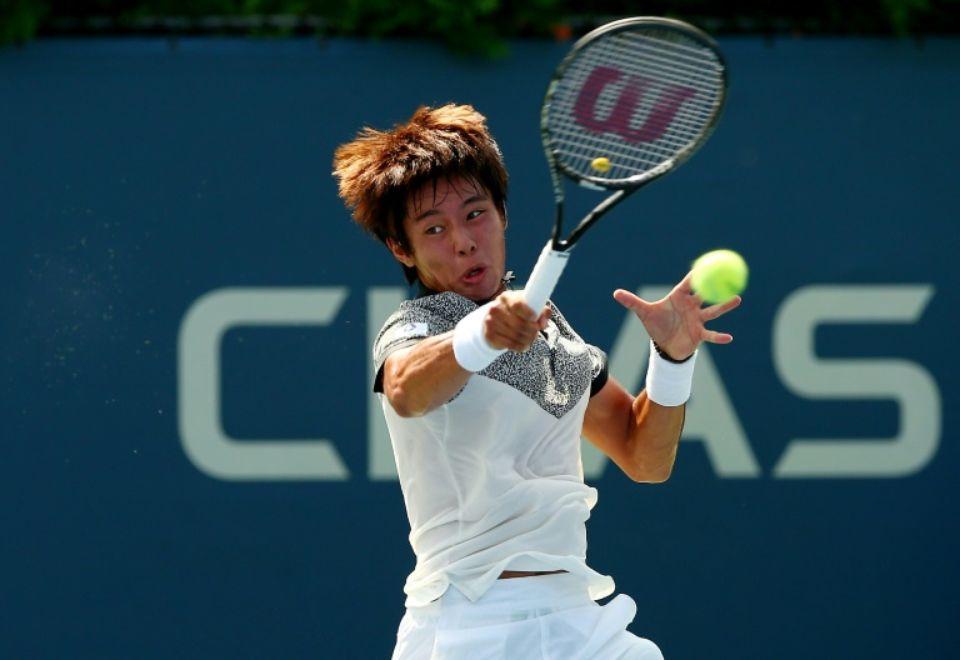 Le Sud-Coréen Duckhee Lee lors de l'US Open Junior, à Flushing, le 1er septembhre 2014 afp.com - ELSA