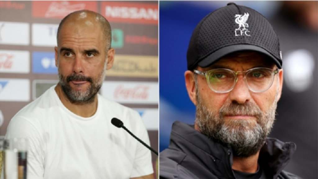 Pep Guardiola has hit back at Liverpool manager Jurgen Klopp.
