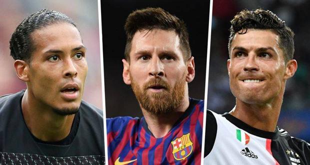 Van Dijk (Liverpool), Messi (FC Barcelone) et Ronaldo (Juventus Turin), ont été sélectionnés par un jury composé de 80 entraîneurs de clubs ayant participé à la Ligue des champions et à la Ligue Europa ainsi que 55 journalistes.