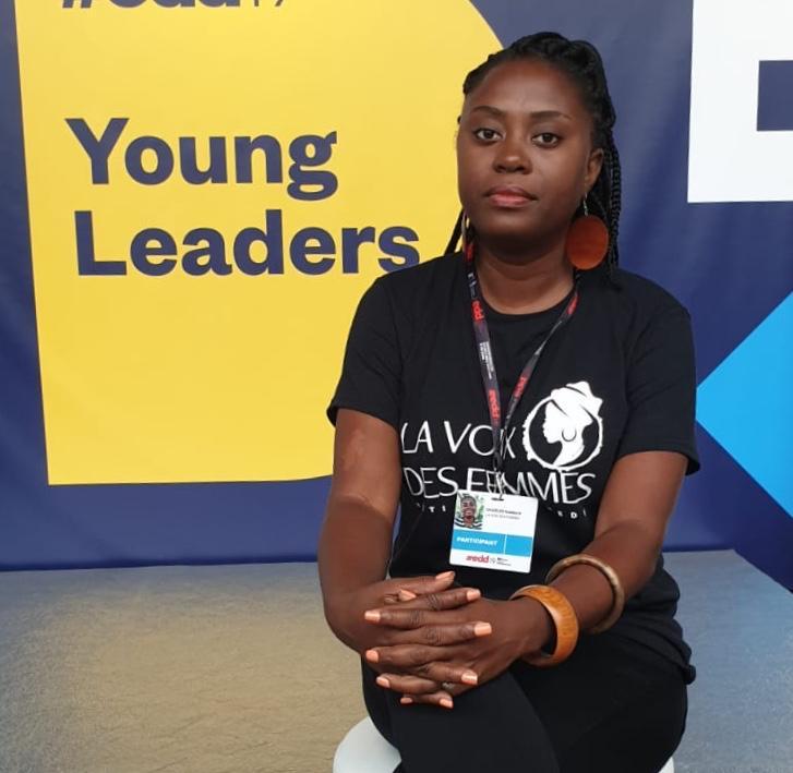 Roselaure Charles directrice du projet «Voix des femmes»