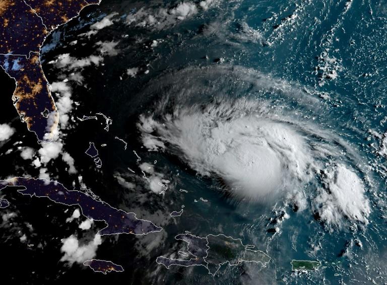 Image satellite de l'ouragan Dorian