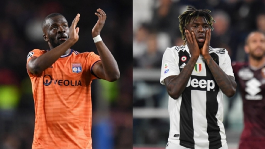 Premier League new boys Tanguy Ndombele and Moise Kean.