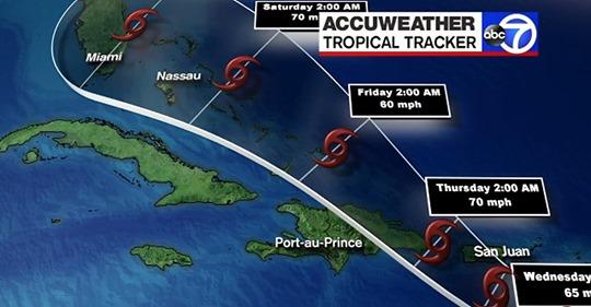 Selon les modèles de prévision, Haïti ne devrait pas être sous l'effet direct de cette tempête tropicale. Par contre, le pays doit s'attendre à quelques cellules orageuses se détachant des bandes spiralées du système.