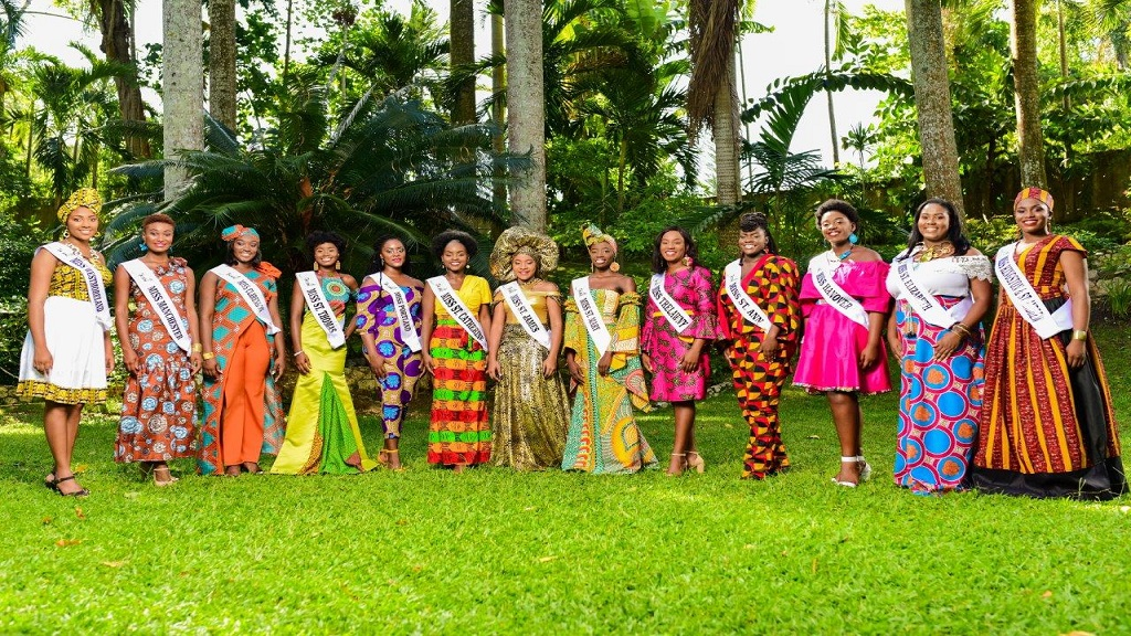 The 2019 Miss Jamaica Festival parish queens.