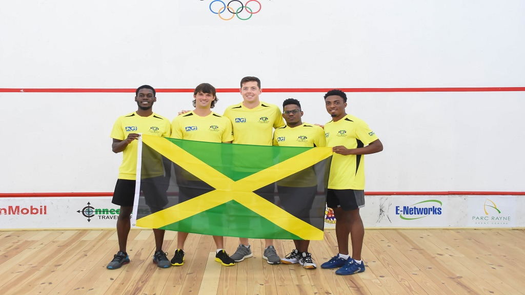 Members of Jamaica's senior national squash team who won a silver medal at the 2019 Caribbean Area Squash Association's Senior Championships at the weekend in Georgetown, Guyana.