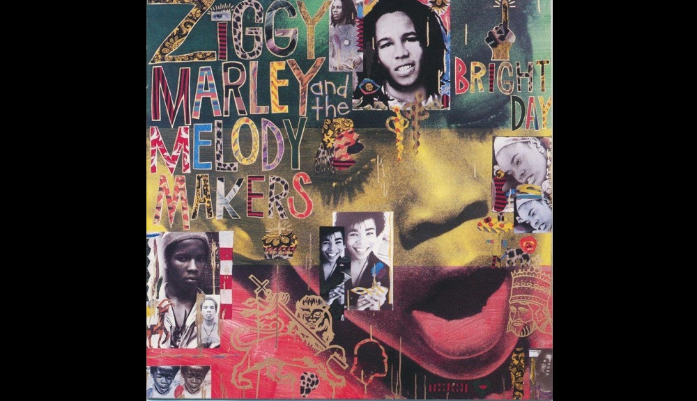 The album cover for Ziggy Marley and the Melody Makers' Grammy Award-winning One Bright Day album which included the hit song, 'Black My Story'.