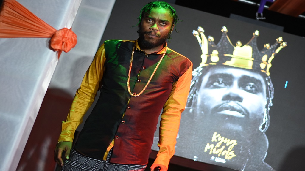 Dancehall producer Notnice at the launch of his Kyng Midas album on Thursday. (PHOTOS: Marlon Reid)