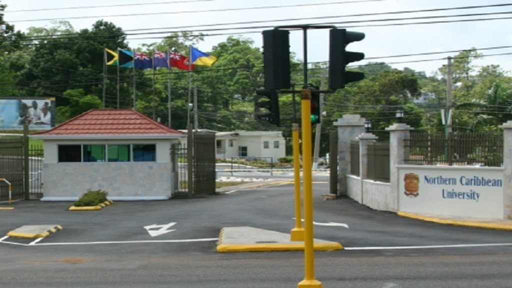 The main entrance to the Mandeville-based Northern Caribbean University (NCU) campus.