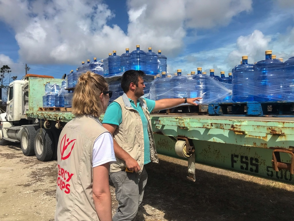 In partnership with IAG Cargo, Airlink and Mercy Corps, British Airways has flown large shipments of life-saving supplies including water and shelter repair materials to the Bahamas