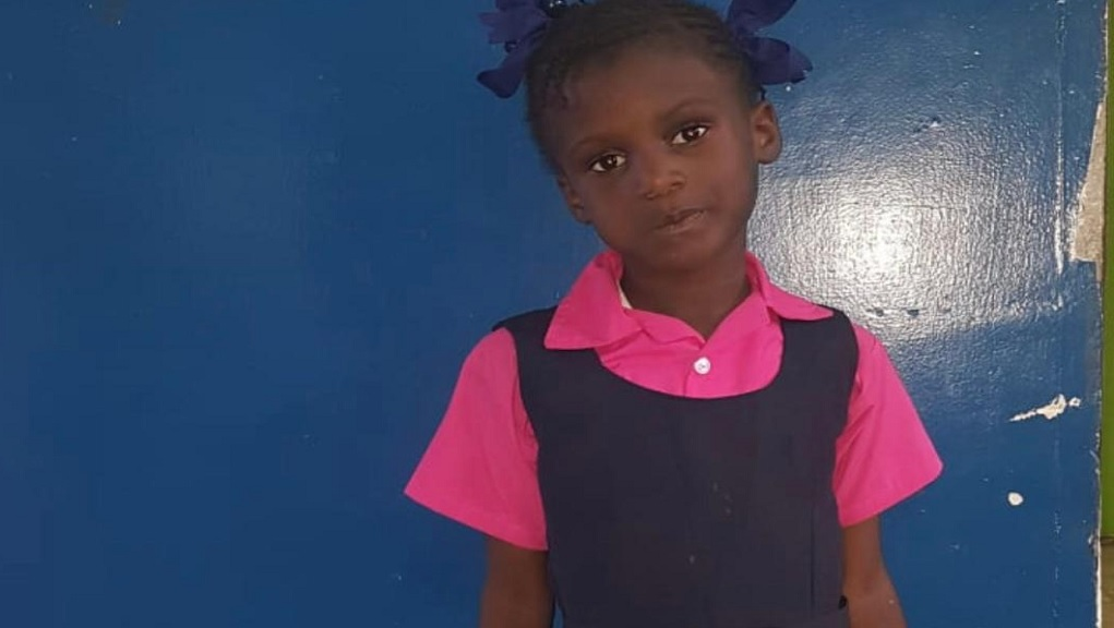 The child who was found in a bus in downtown Kingston on Thursday afternoon.