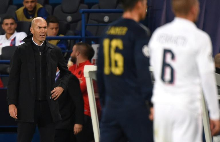 Zinédine Zidane a concédé sa pire défaite européenne en tant qu'entraîneur du Real Madrid, sur la pelouse du Paris Saint-Germain le 18 septembre 2019.