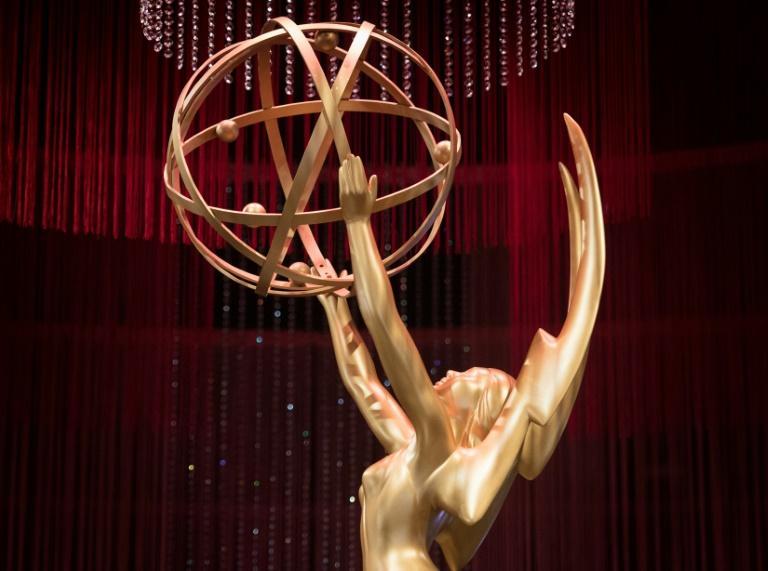 Une statuette des Emmy Awards, prise en photo à Los Angeles le 12 septembre 2019 à quelques jours de la 71e édition. La cérémonie aura lieu au Microsoft Theater le 22 septembre 2019 afp.com - Mark RALSTON