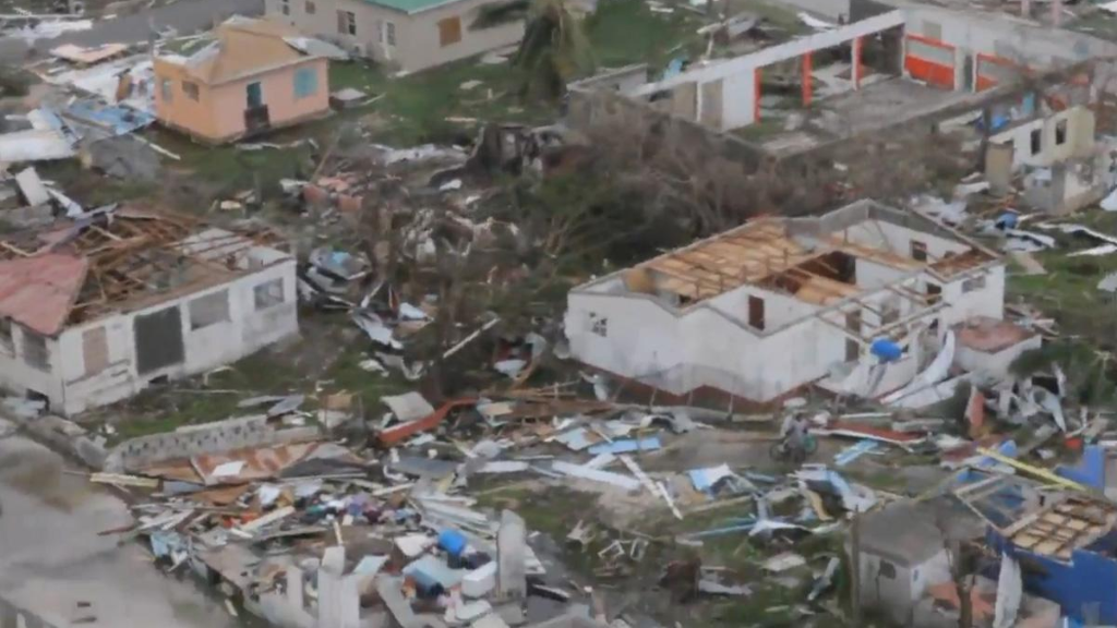 Barbuda in 2017 after Hurricane Irma.