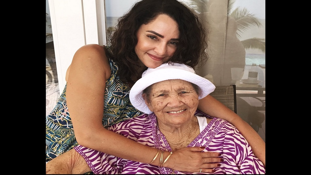 East Portland MP Ann- Marie Vaz and her grandmother Eva May Wright. (Photo via Vaz' Twitter account).
