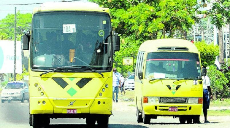 File photo of a buses on a road in Jamaica.