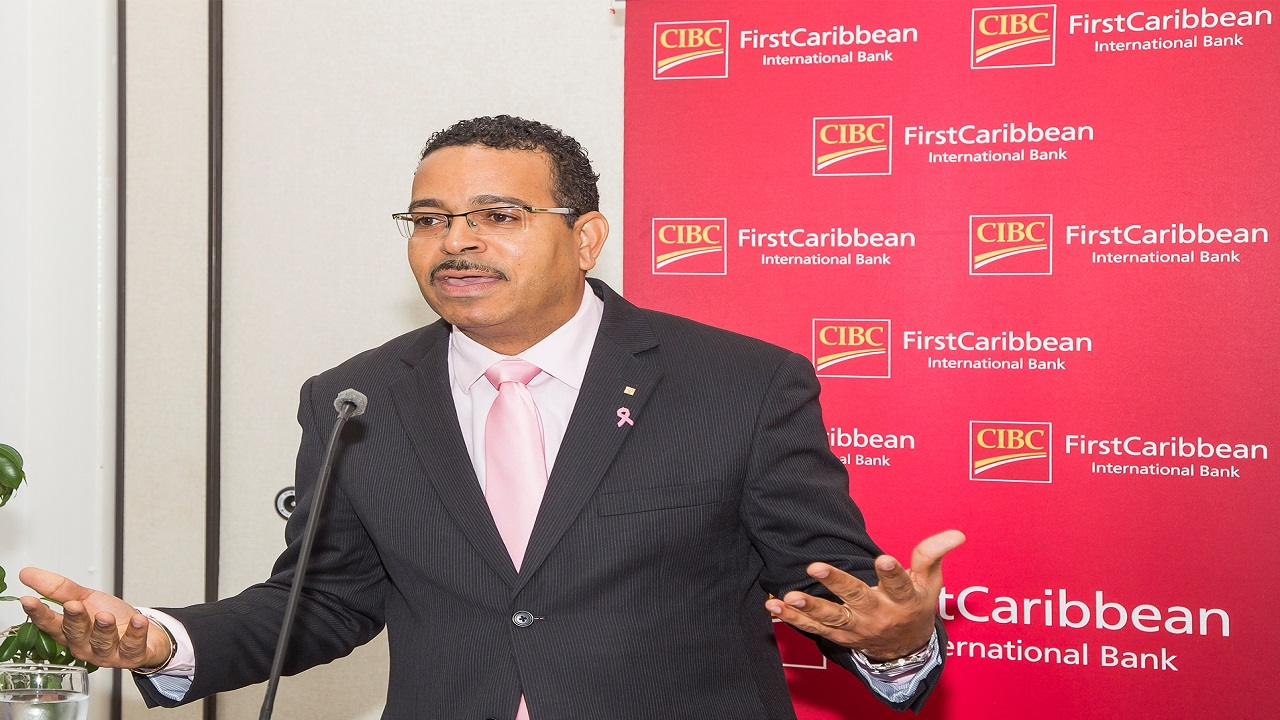 Nigel Holness, Managing Director of CIBC FirstCaribbean International.