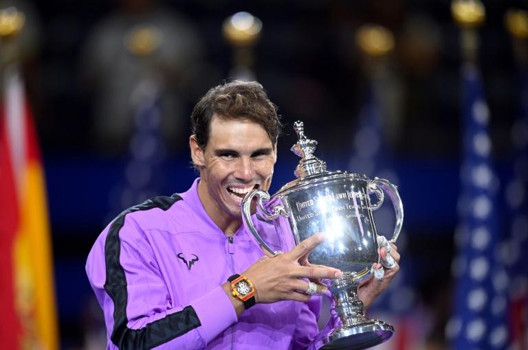 Rafael Nadal après sa victoire contre Daniil Medvedev en finale de l'US Open, le 8 septembre 2019 à New York
