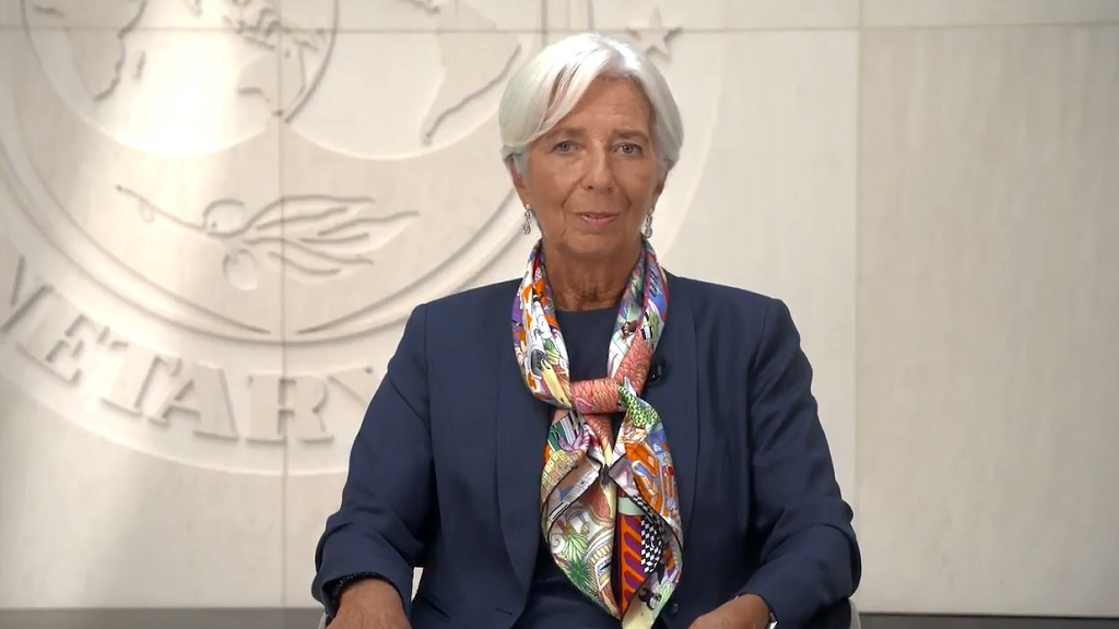Christine Lagarde delivered a message to the Jamaican people via video earlier this week.