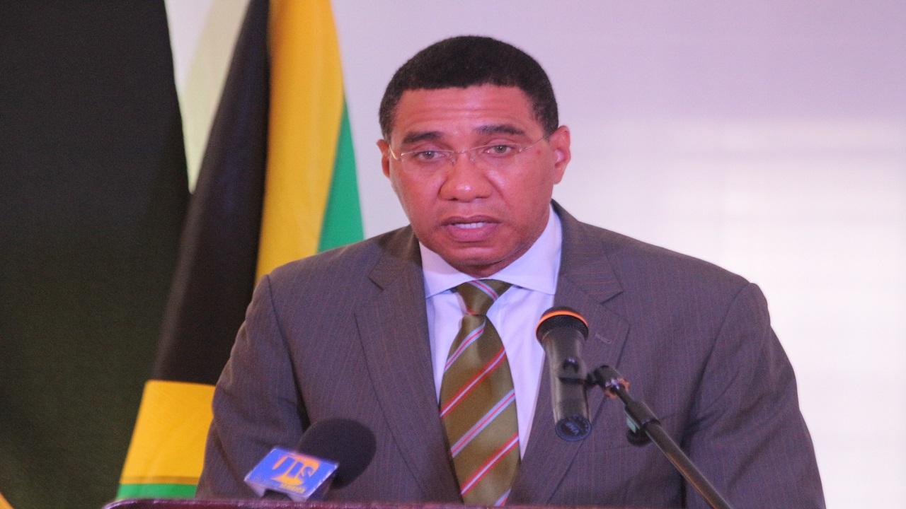 Jamaica's Prime Minister Andrew Holness