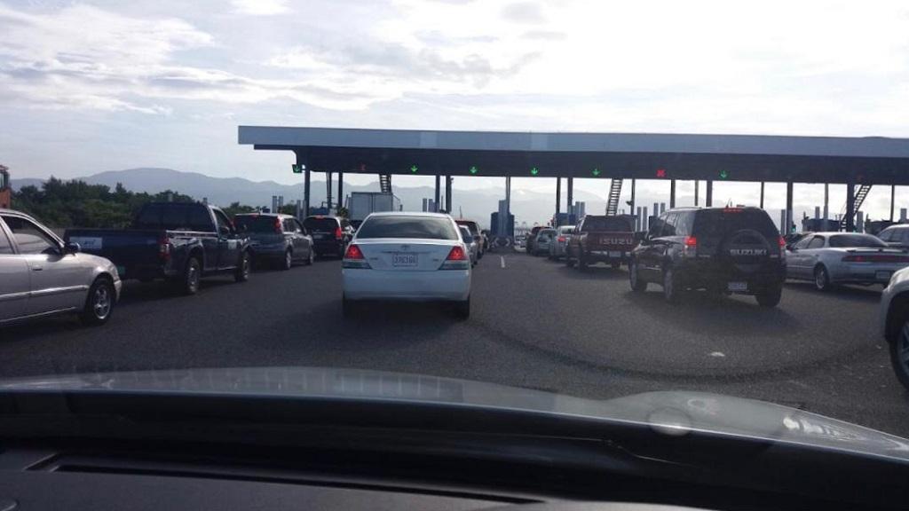 A local toll plaza.