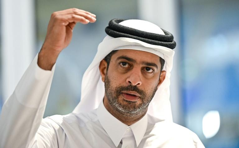 Nasser al-Khater, un responsable de l'organisation de la Coupe du monde de football 2022 au Qatar, lors d'une conférence de presse à Doha, le 25 septembre 2019