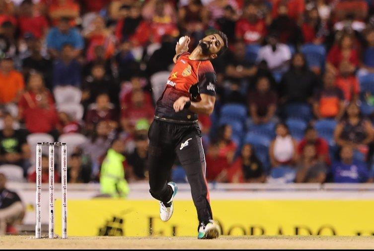 Ali Khan bowled impressively on his return to the Trinbago Knight Riders team against the Jamaica Tallawahs