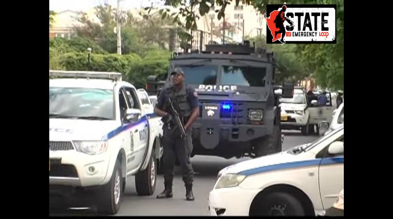 Loop file photo of the security forces in St James under the state of emergency.