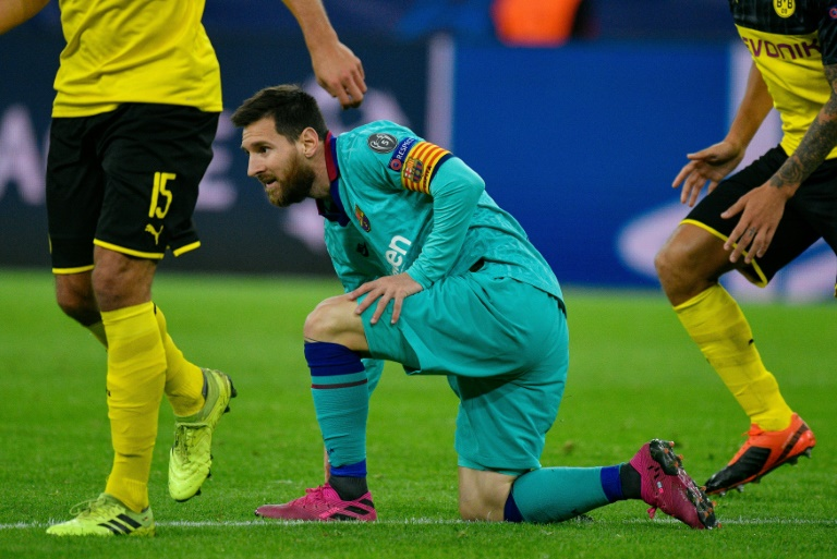 L'attaquant du FC Barcelone Lionel Messi lors du match nul 0-0 à Dortmund en 1re journée de Ligue des champions le 17 septembre 2019