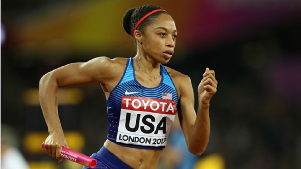 Six-time Olympic champion Allyson Felix.