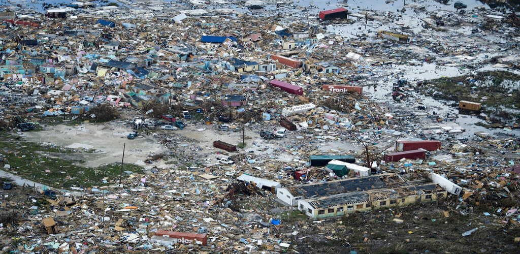 This Thursday, Sept. 5, 2019 photo provided by UNICEF shows damage caused by Hurricane Dorian in Marsh Harbour on Great Abaco Island of the Bahamas. (UNICEF/PA via AP)