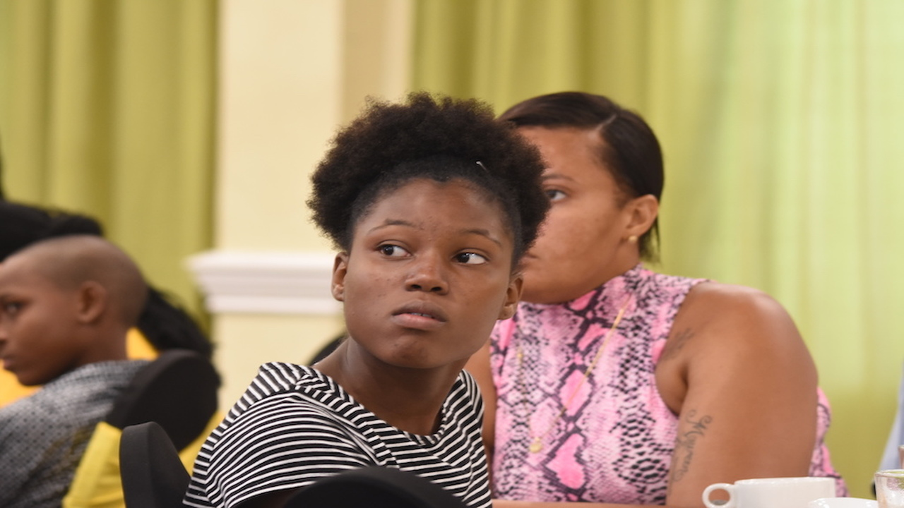 Attentive individuals among the guests at the Jamaica Private Power Company (JPPC) scholarship awards in New Kingston last week.  (Photos: Marlon Reid)