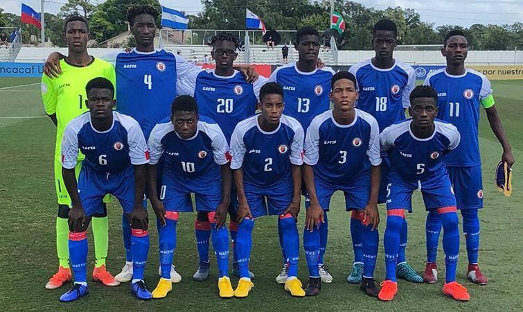La sélection haïtienne des moins de 17 ans. Photo : FHF