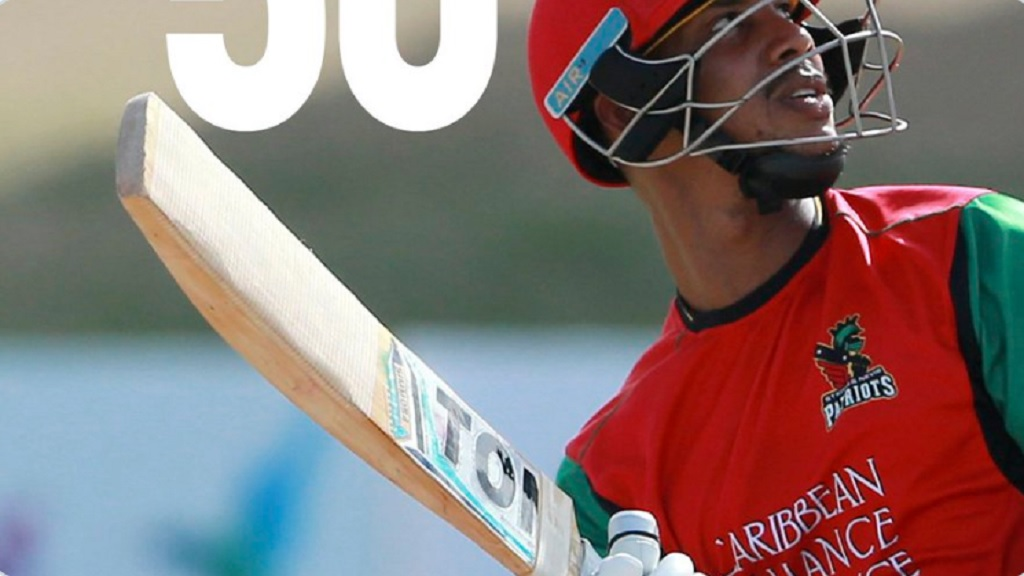 Lendl Simmons hit his first half century for the Trinbago Knight Riders in their seven-wicket win over the St Lucia Zouks.