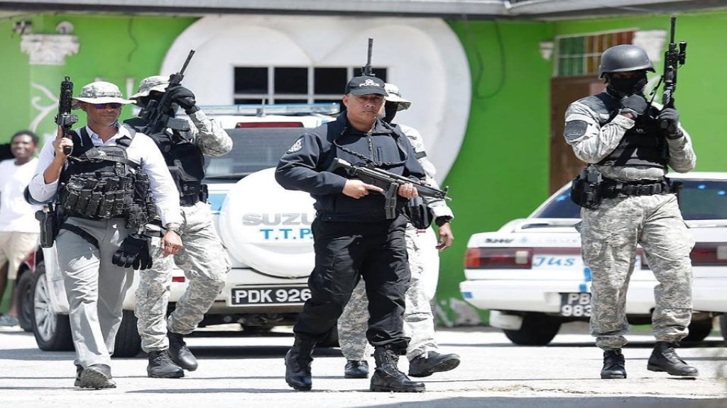 Police Commissioner Gary Griffith during intensified police operations on February 1, 2019. Photo via the Trinidad and Tobago Police Service (TTPS).