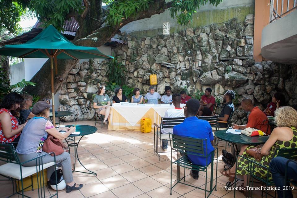 Conférence de lancement du festival. Crédit Photo: Phalonne Pierre Louis/ Facebook Loque Urbaine