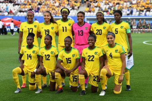 Les footballeuses jamaïcaines avant leur match contre l'Australie à Grenoble le 18 juin 2019 afp.com - Jean-Pierre Clatot