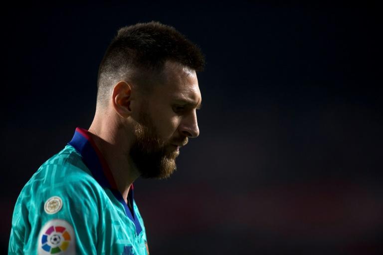 La star argentine du FC Barcelone Lionel Messi dépité lors du match de Liga à Grenade, le 21 septembre 2019