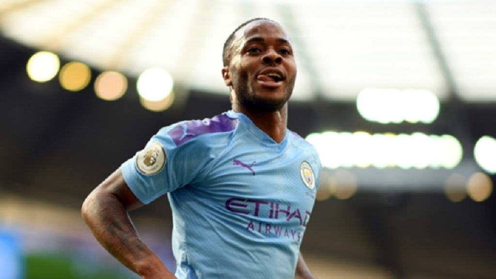 Manchester City star Raheem Sterling.