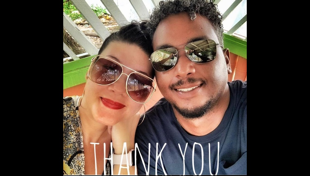 Tessanne with hubby, Brandon.