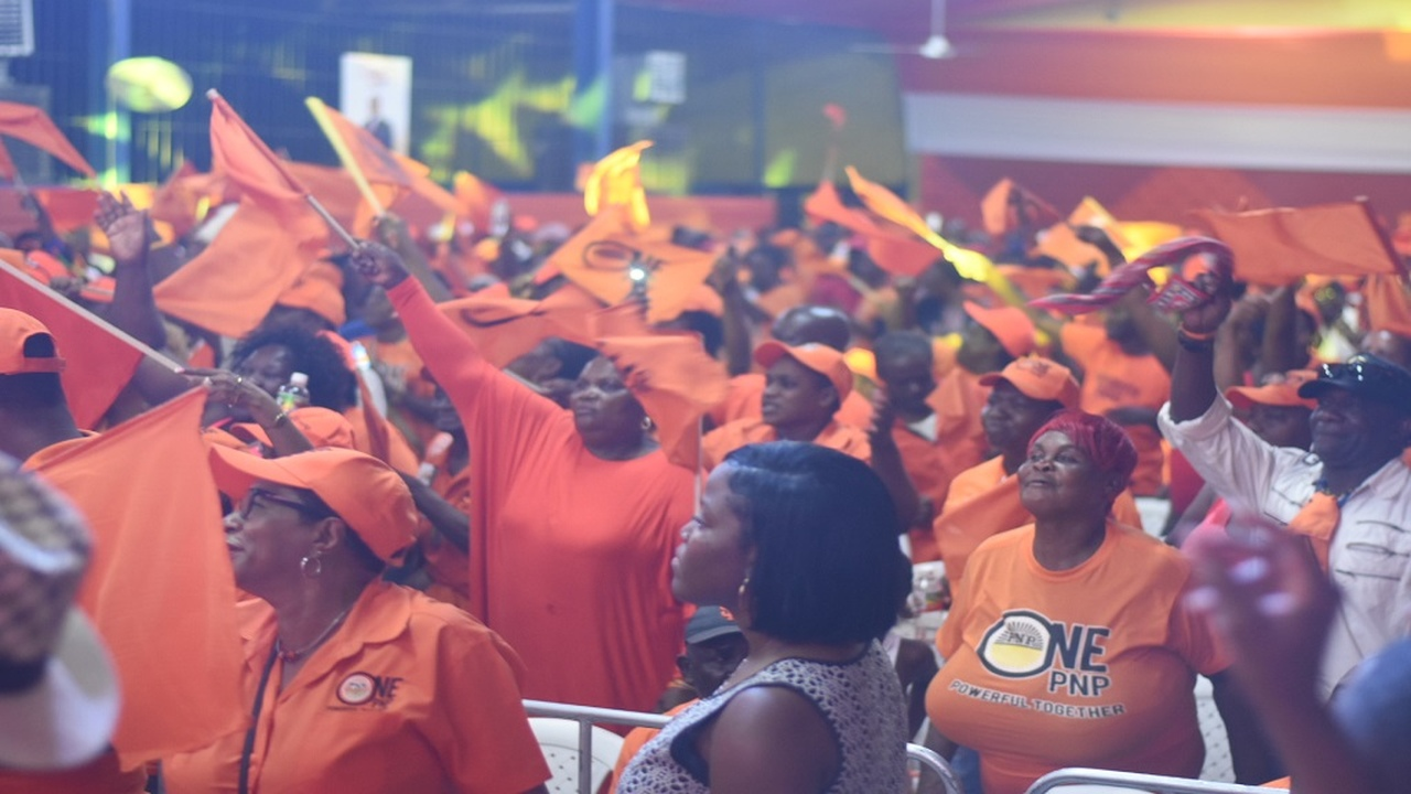 Dr Peter Phillips' OnePNP supporters at his East Central St Andrew constituency annual conference on Sunday. (PHOTOS: Marlon Reid)